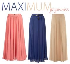 How to wear the city look with maxi skirts | Maxi Pleated Skirt