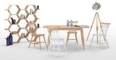 Aménagez-vous une salle à manger un brin rustique avec la table en bois de haute qualité de la collection Deauville.