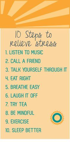 10 steps to relieve stress