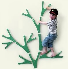 Indoor wall tree - if he's going to climb the walls anyways, I might as well help him do it a bit safer