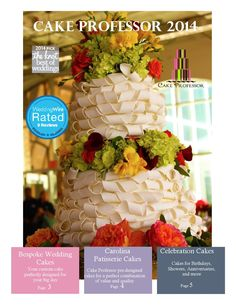 Cake Professor LLC 2014 Look Book  Wedding Cake Designs and Party Information from the Cake Professor Columbia, SC