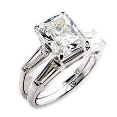 Princess Cut Diamond Wedding Ring Set, starting at only $1.