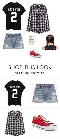 """""""Fridays Are The Best"""" by salivalopez ❤ liked on Polyvore featuring Frame Denim, Rails, Converse and Harrods"""