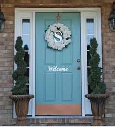 Painted Front Door front door benjamin moore catalina blue in high gloss | paint
