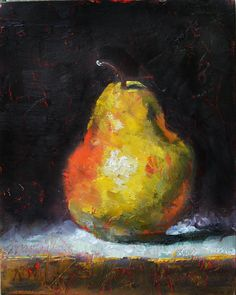 Art du Jour by Martha Lever: The Mystery Pear Pastel Artwork, Oil Pastel Art, Watercolor Paintings For Beginners, Fruit Painting, Still Life Art, Elements Of Art, Mellow Yellow, Acrylic Art, Painting Inspiration
