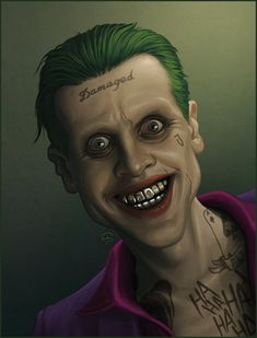Jared Leto's Joker by TovMauzer on DeviantArt