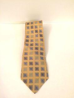 Bugatti Yellow and Blue Neck Tie, Classic, Vintage #Bugatti #Vintage
