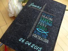 Weiteres - Gotteslob - Hülle aus Wollfilz - Worte - ein Designerstück von JuniEngel- bei DaWanda