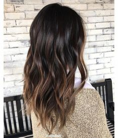 Long Wavy Ash-Brown Balayage - 20 Light Brown Hair Color Ideas for Your New Look - The Trending Hairstyle Dark Ombre Hair, Brown Hair Balayage, Brown Hair With Highlights, Brown Blonde Hair, Ombre Hair Color, Light Brown Hair, Brown Hair Colors, Brunette Hair, Ombre Brown