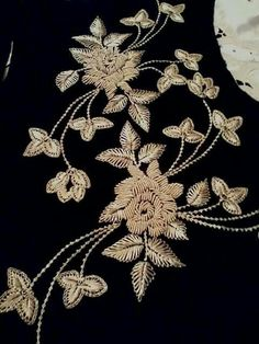 Beautiful gold embroidery with black base