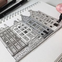 Amsterdam #art #drawing #pen #sketch #illustration #linedrawing #amsterdam #thenetherlands #architecture