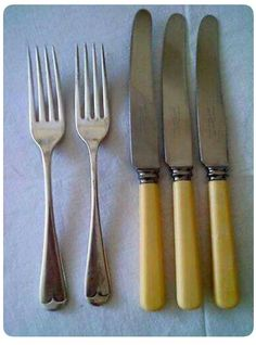 My little Nana's Cutlery. ** I think my mother still has a couple of pieces of this cutlery and it must be 60 years old by now.