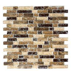 Mosaikfliese Crystal Mix XIC V1355 (Braun) Bauhaus, Firewood, Crystals, Enorm, Products, Environment, Embellishments, Darkness, Stones