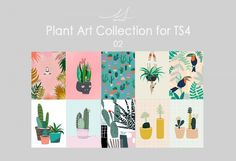 SIM-SONS: Plant Art Collection 02 • Sims 4 Downloads