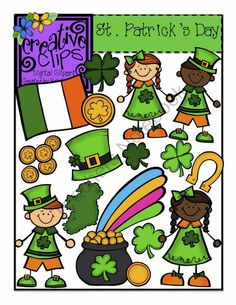St. Patrick's Day {Creative Clips Digital Clipart} product from Creative-Clips-Clipart on TeachersNotebook.com