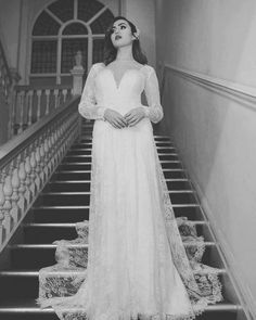 Vintage lace in a bespoke bridal gown with sleeves  #Bespokebridallondon   www.ThingsIAdore.com