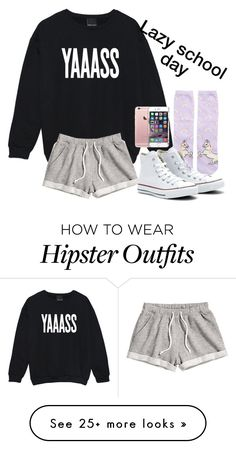 """Ya I give up"" by that-preppy-girl22 on Polyvore featuring New Look, Converse and H&M"