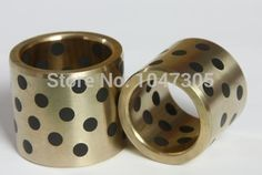 JDB 708540 oilless impregnated graphite brass bushing straight copper type, solid self lubricant Embedded bronze Bearing bush