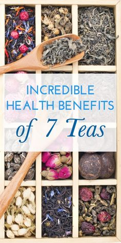 7 incredible teas: the different health benefits (including weight loss!) and natural remedies each provides. Via @ChickRx