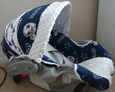 Dallas Cowboys Baby Car Seat Cover. $70.00, via Etsy.
