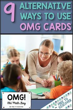 Old Math Guy is a super fun card game for secondary math students!  Whether you have one set or ALL the sets, you may be looking for some others ways to use this valuable resource.  Many teachers have reached out and shared that they simply use the cards as an awesome matching activity instead of a cooperative learning game similar to Old Maid.  I've shared this great idea as well as 8 more fun ways to use OMG cards in your math classroom! Cooperative Learning, Learning Games, Teaching Strategies, Teaching Math, Math Card Games, 7th Grade Math, Secondary Math, Matching Cards, Math Skills