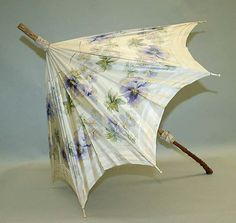 """VanderBiltmore Style"":Parasol Date: ca. 1900 Culture: American Medium: silk, wood, metal."