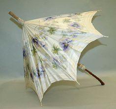 Parasol Date: ca. 1900 Culture: American Medium: silk, wood, metal