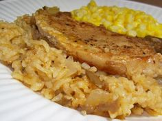 Oven Baked Pork Chops and Rice Simply Oven Baked Pork Chops and Rice. Photo by Chef shapeweaver © gotta make tomorrowSimply Oven Baked Pork Chops and Rice. Photo by Chef shapeweaver © gotta make tomorrow Baked Pork Chops And Rice Recipe, Chops Recipe, Pork Chops With Rice, Oven Baked Pork Chops, Mushroom Soup Pork Chops, Mushroom Food, Pork Recipes, Cooking Recipes, Pork Meals
