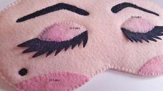 mascara para dormir - modelo maquiagem