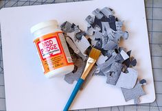 Apply mod podge over cardboard puzzle pieces. Puzzle Piece Crafts, Puzzle Pieces, Diy For Kids, Crafts For Kids, Create Your Own Puzzle, Teacup Crafts, Valentine Box, Christmas Makes, Arts And Crafts Projects