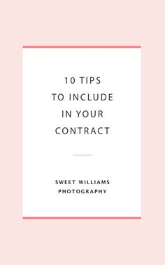 10 Tips To Include In Your Photography Contract - Wedding Essentials Freelance Photography, Photography Tools, Photography Branding, Photography Business, Wedding Photography Contract, Business Photos, Business Ideas, Nashville Photographers, Contract Design