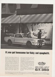 Shelby GT 350 Advertisement Cobra Ford American Muscle Sports Car ast year the British automaker Jaguar unveiled the concept ca. Mustang Gt 350, Ford Mustang Fastback, Ford Mustang Shelby, Mustang 1966, Ford Mustangs, Classic Mustang, Ford Classic Cars, Bicicletas Raleigh, 70s Muscle Cars