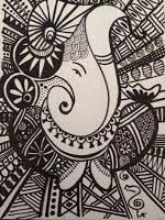 Drawing Doodles Sketches the path of my pencil takes me through some doodles, sketches and some ramblings in writing. Mandala Doodle, Mandala Art Lesson, Mandala Artwork, Easy Mandala Drawing, Ganesha Drawing, Ganesha Art, Ganesha Painting, Doodle Art Drawing, Black And White