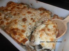 If you love stuffed mushrooms then you will love this recipe.  It's a side dish that is always a hit with my family.