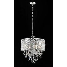 Warehouse of Tiffany 4 Light Round Crystal Chandelier & Reviews | Wayfair