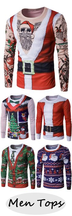Men tops, ugly sweater idea I'm thinking Black Christmas, Christmas Tops, Christmas Gifts For Men, Christmas And New Year, Christmas Holidays, Christmas Sweaters, Christmas 2017, Christmas Ideas, Christmas Clothes
