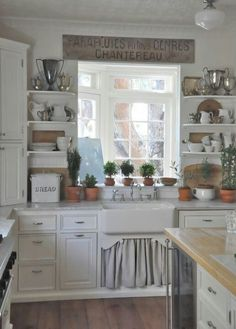like idea of shelves on the outside of the cabinets around the sink