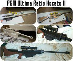 My Sinon cosplay Hecate rifle :D SAO, Sword Art Online II