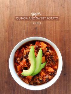 LET'S EAT: VEGAN QUINOA AND SWEET POTATO CHILI