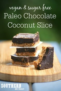 Perfect for anyone looking for a healthy sweet treat, this Paleo Chocolate Almond Slice Recipe tastes just like candy whilst being totally healthy, grain free, paleo, raw, gluten free, vegan, refined sugar free and seriously delicious. Easy and so simple, this no bake slice is made in minutes.
