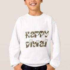 Happy Diwali Greeting Cute Hearts Typography Sweatshirt