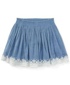 Ralph Lauren Little Girls' Lace Skirt Baby Girl Pants, Little Girl Dresses, Girls Dresses, Baby Skirt, Baby Dress, Toddler Fashion, Girl Fashion, Skirts For Kids, Kids Frocks