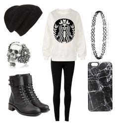 """""""Let's Go To Starbucks"""" by fairytalestorybook ❤ liked on Polyvore featuring Max Studio, Phase 3, Ugo Cacciatori, Casetify and Philosophy di Lorenzo Serafini"""