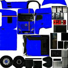 Paper Car, Paper Toys, Free Paper Models, Truck Mods, Heavy Truck, Mini Trucks, Peterbilt, Slot Cars, Model Trains