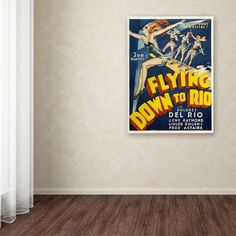 19 in. x 14 in. Flying Down to Rio Canvas Art