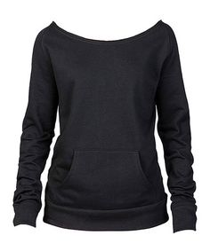 Another great find on #zulily! Black Flashback Fleece Top - Plus Too #zulilyfinds