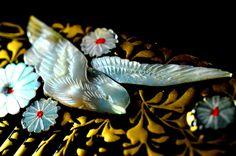 Antique Hair Comb Flying Bird | Antique Kanzashi Kushi | Hair Comb Kanzashi Antique Flying Bird  | Kanzashi Hair Comb | Hair Kushi Antique by JapaVintage on Etsy