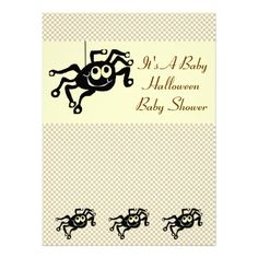143 best halloween baby shower invitations images on pinterest lil spider halloween baby shower invitation cards filmwisefo