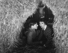 (Clark Gable and Claudette Colbert filming It Happened One Night)