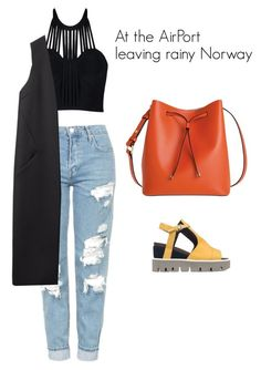 """Huh"" by lenaberge ❤ liked on Polyvore featuring Topshop, Posh Girl, Strategia, Lodis and Non"